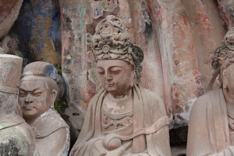 Tallas de la roca de la montaña de Dazu Bao Ding fotos de archivo libres de regalías