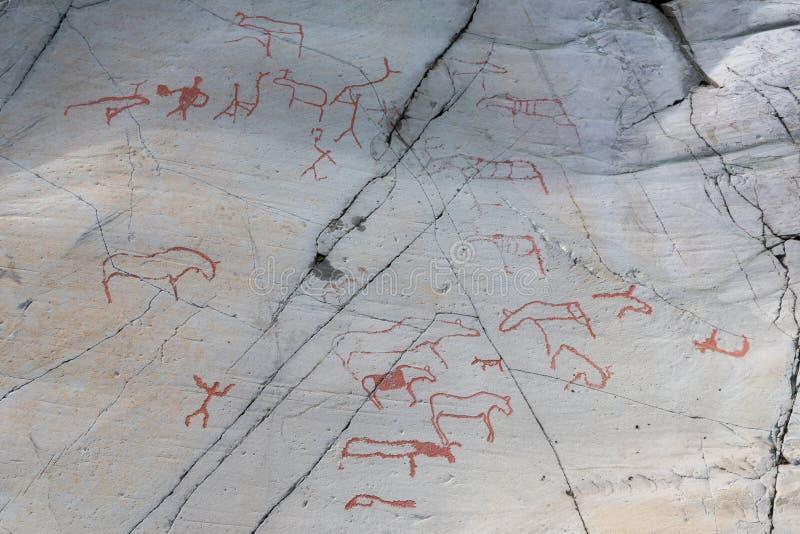 Tallas de la roca en Alta Finnmark imagen de archivo