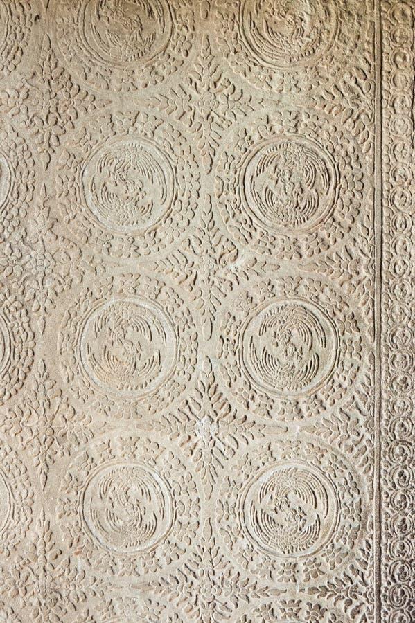 Tallas ornamentales en Angkor Wat foto de archivo