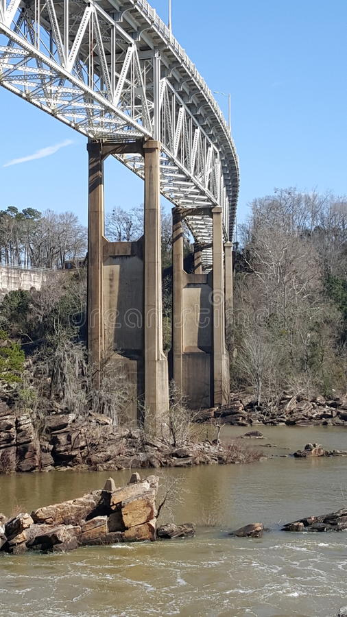 Tallassee Bridge royalty free stock photography