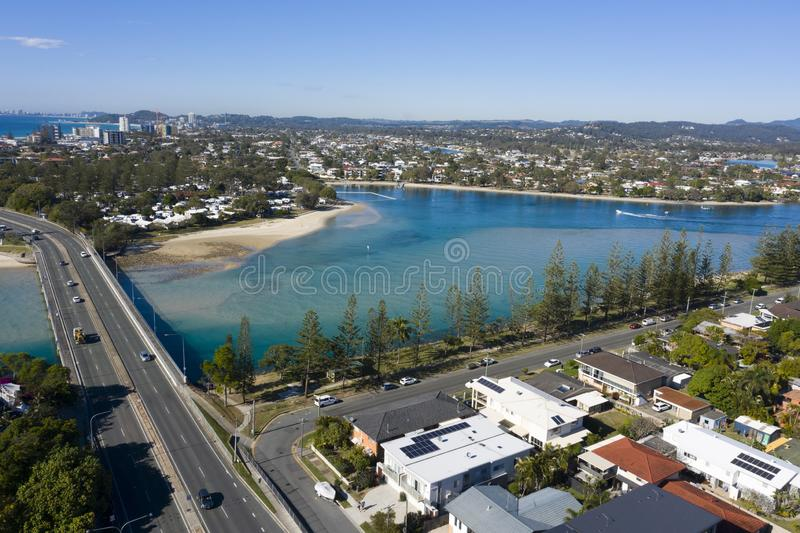 Tallebudgera creek at Burleigh Heads, Gold Coast stock photo