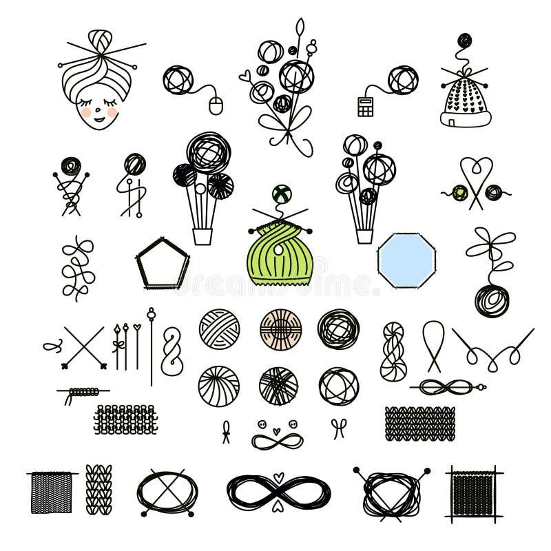Taller, curso, logotipo principal de la plantilla del vector de la clase, insignia, labe stock de ilustración