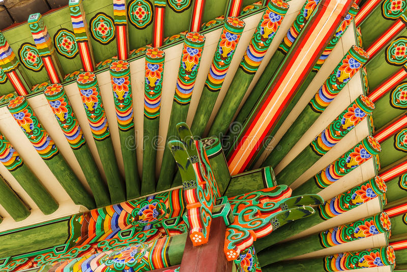 Taller de pintura coreano tradicional imagenes de archivo