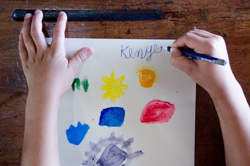 Taller del arte de los niños fotografía de archivo libre de regalías
