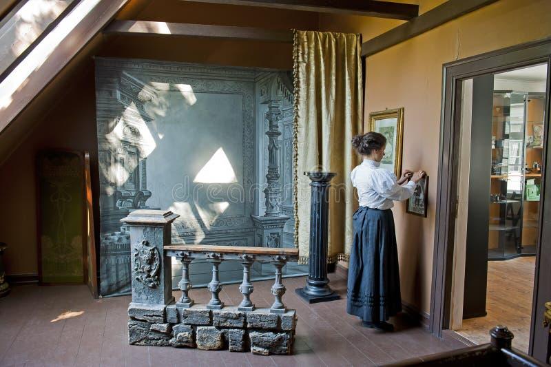 Taller fotográfico en Gamle viejo Bergen Museum fotos de archivo