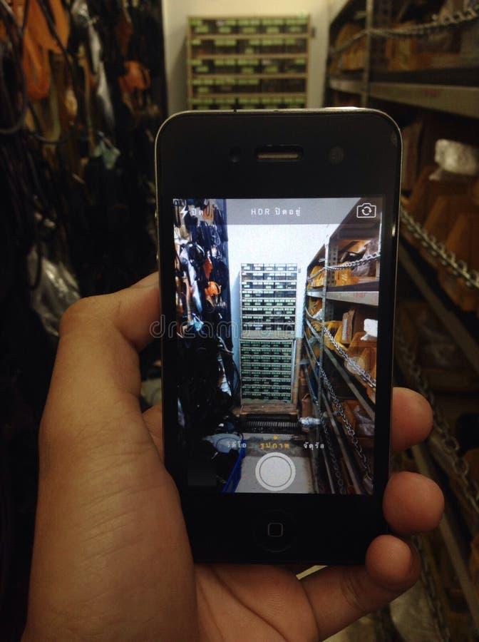 Taller móvil Tailandia de la fotografía foto de archivo libre de regalías