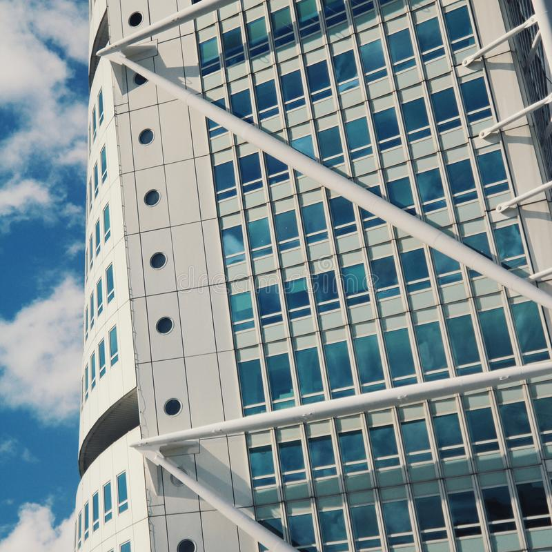 The tallest modern building in malmo stock photo