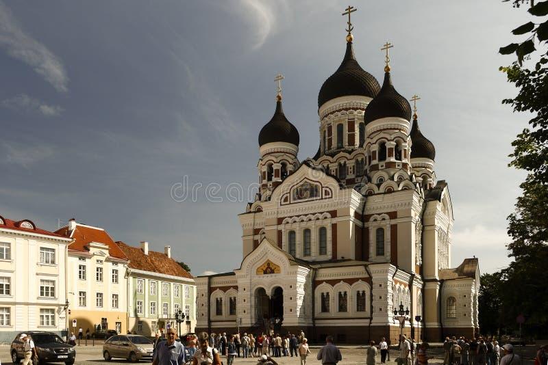 Tallin的东正教。 图库摄影