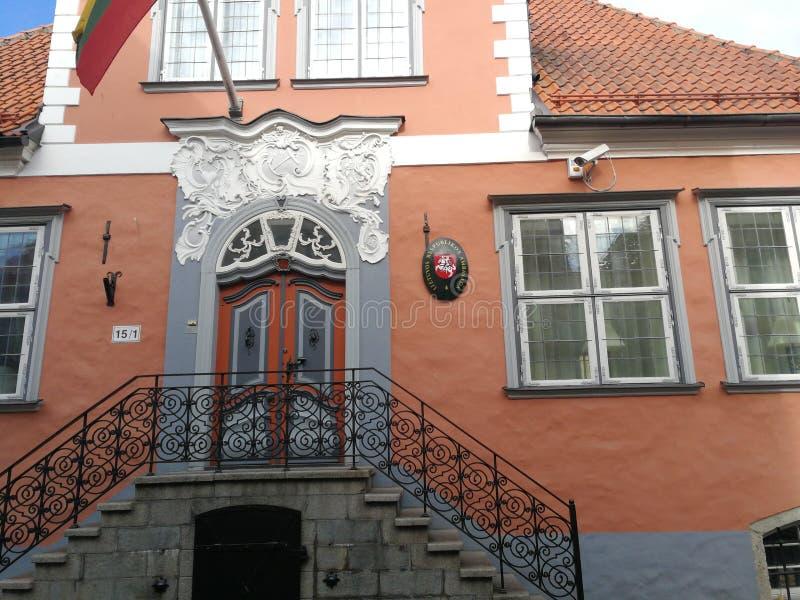 Tallin embasy Estonie de la Lithuanie photos libres de droits