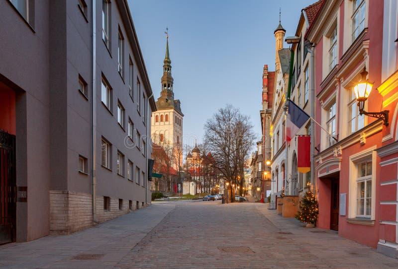 tallinn эстония город старый стоковое фото rf