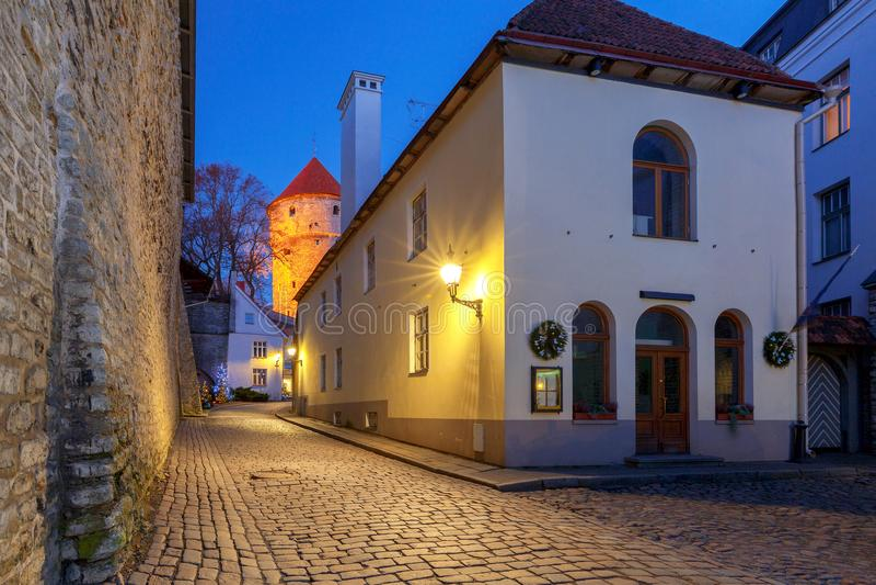 tallinn эстония город старый стоковая фотография rf