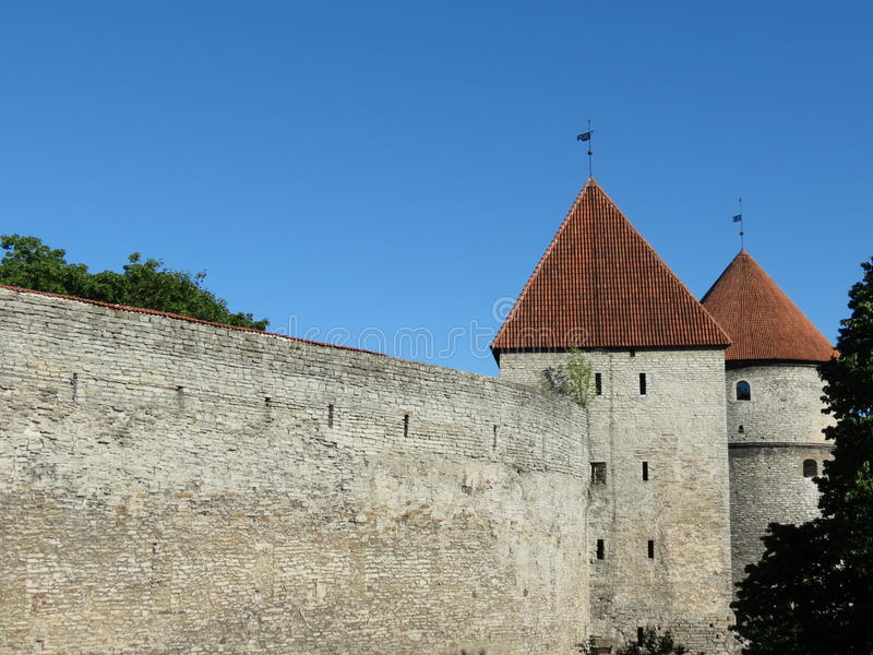 Download Tallinn stock image. Image of towers, middle, gates, stone - 25428123
