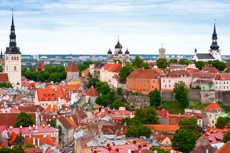 Download Tallinn From Above, Estonia Stock Image - Image of exterior, cityscape: 14917525