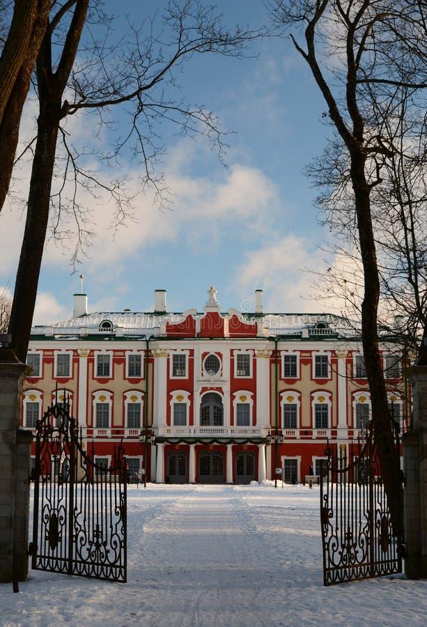Winter view of Kadriorg palace. Tallinn. Estonia royalty free stock images