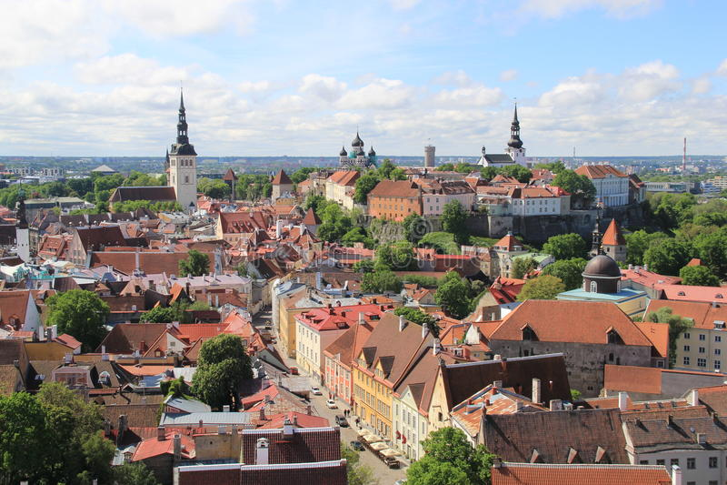Tallinn, capitel de Estonia, 2014 ywar foto de archivo