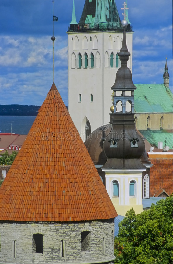 Download Tallinn Churches No.1 Royalty Free Stock Photos - Image: 3376378