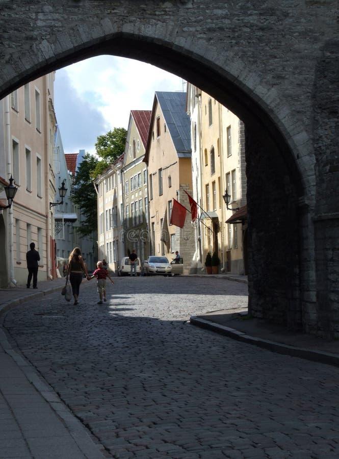 Tallinn - cidade velha bonita imagens de stock royalty free