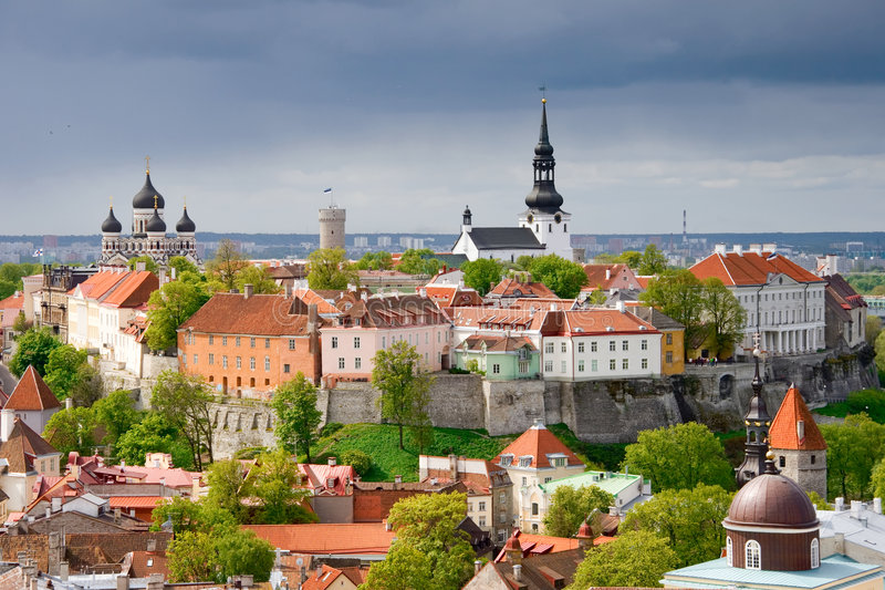Tallinn. Collina di Toompea fotografia stock