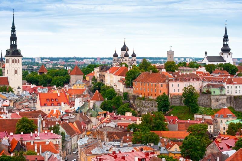 Tallinn da sopra, l'Estonia fotografia stock libera da diritti