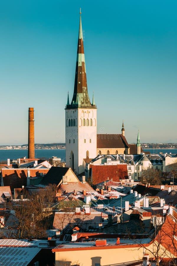 Download Tallinn, Estland Kirche Von St. Olaf Or Olav And Roofs Von Anderem Stockbild - Bild von historisch, outdoor: 106803139