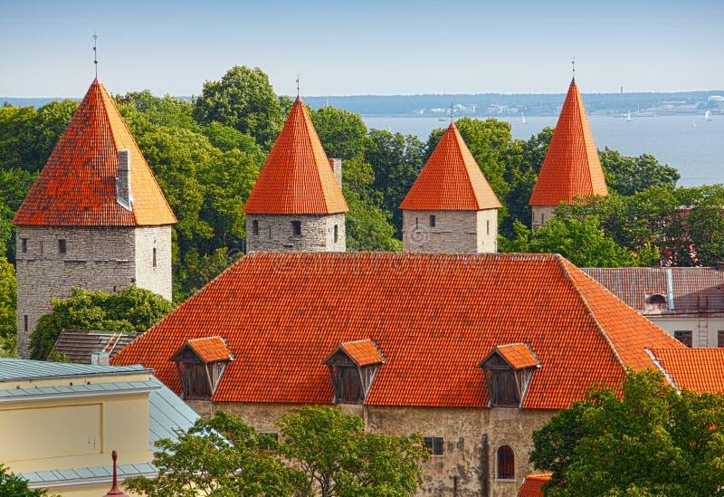 Tallinn Estonia. Tallinn, capital of Estonia scene with orange red tiled roofs. Tallinn - capital of Estonia. The Tallinn Old Town became a UNESCO World Cultural royalty free stock image