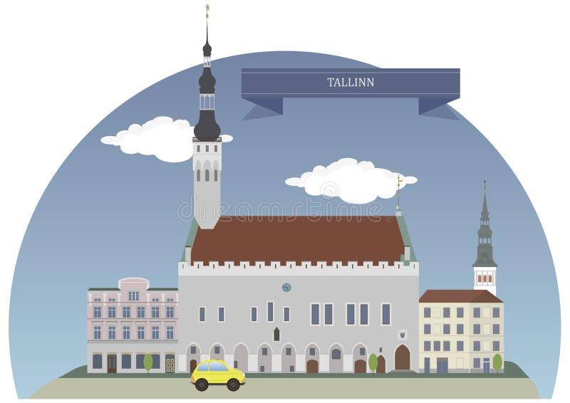 Tallinn, Estonia ilustración del vector