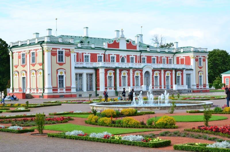 Fragment of the palace and park ensemble Kadriorg Palace stock photography