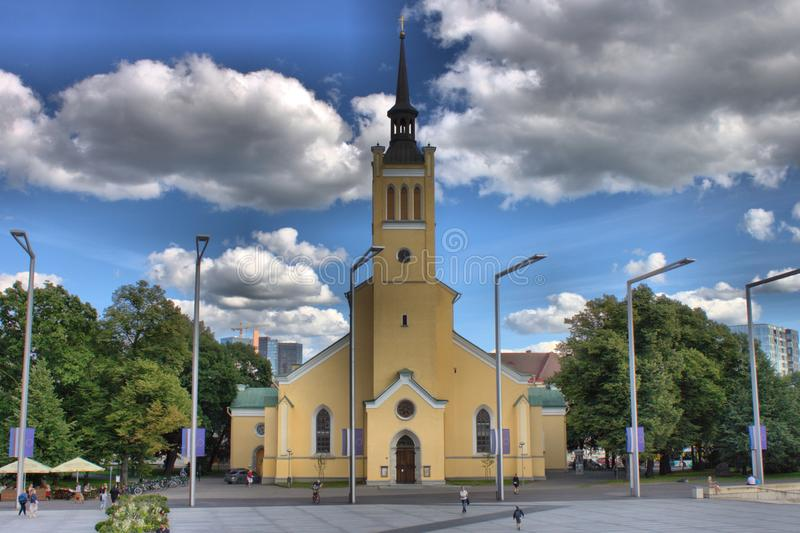 Church of St. John in Tallinn stock photos