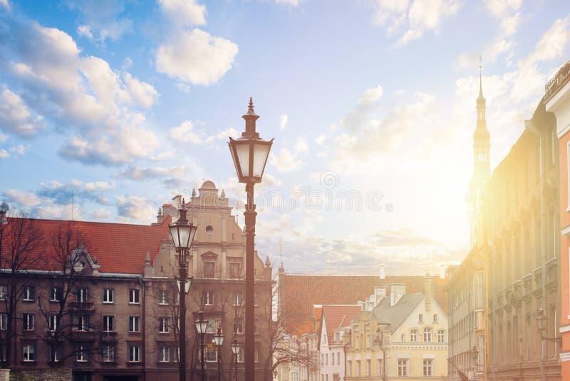 Tallinn, Estonia. Cityscape skyline of touristic Tallinn. Red roofs, medieval houses royalty free stock photos