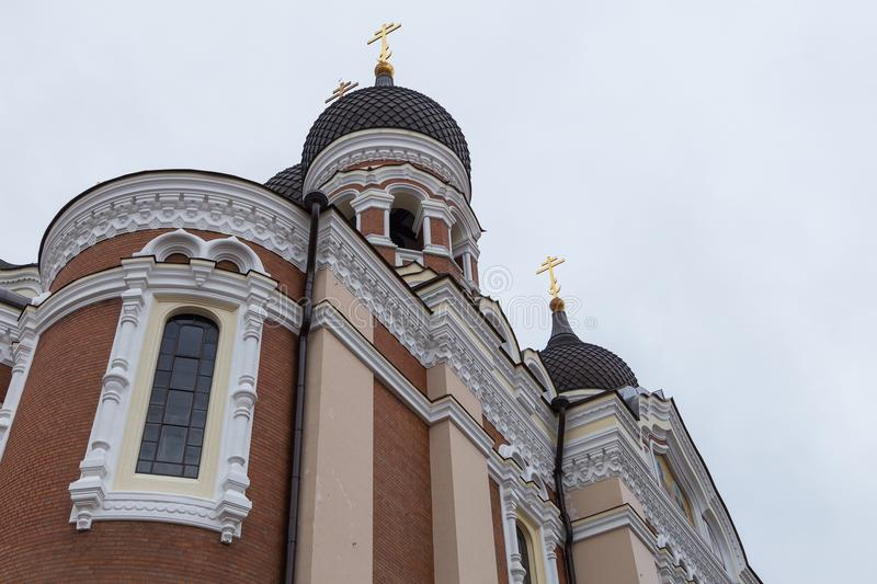 Alexander Nevsky Cathedral, orthodox cathedral in the Tallinn Old Town, Estonia. royalty free stock photos