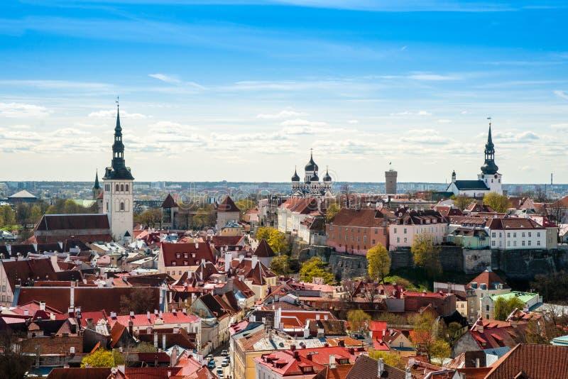 Tallinn, Estonia en la ciudad vieja fotografía de archivo