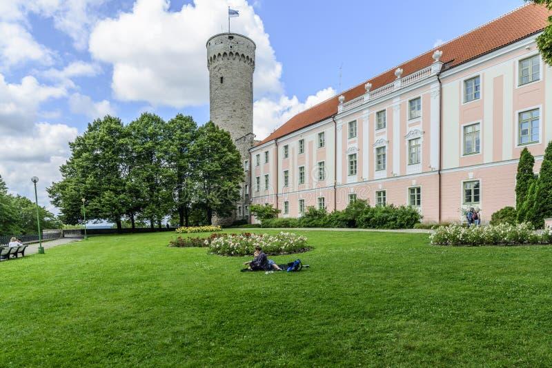 Tallinn, Estonia, Europa, il castello immagini stock libere da diritti