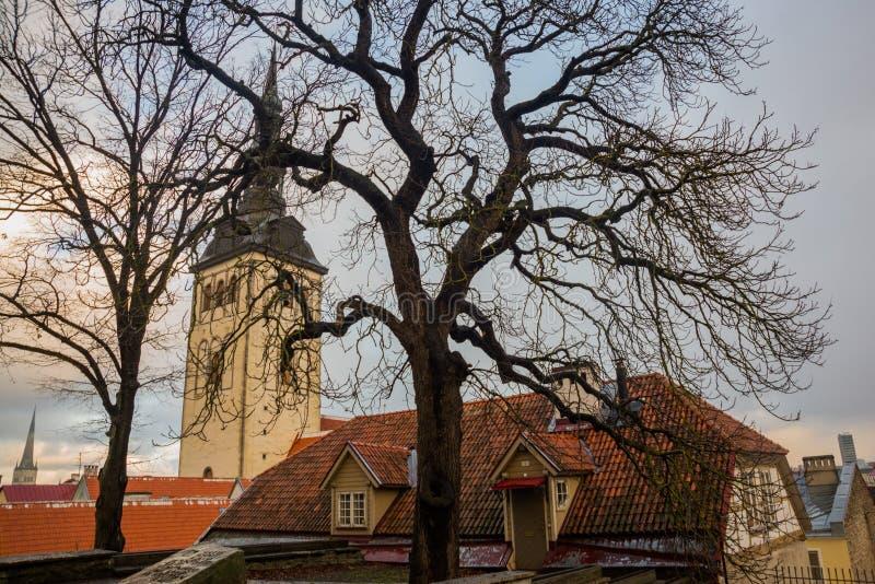 TALLINN, ESTONIA: Iglesia de San Nicolás ', iglesia de Niguliste, kirik de Niguliste Contiene hoy una rama de Art Museum de Eston imágenes de archivo libres de regalías