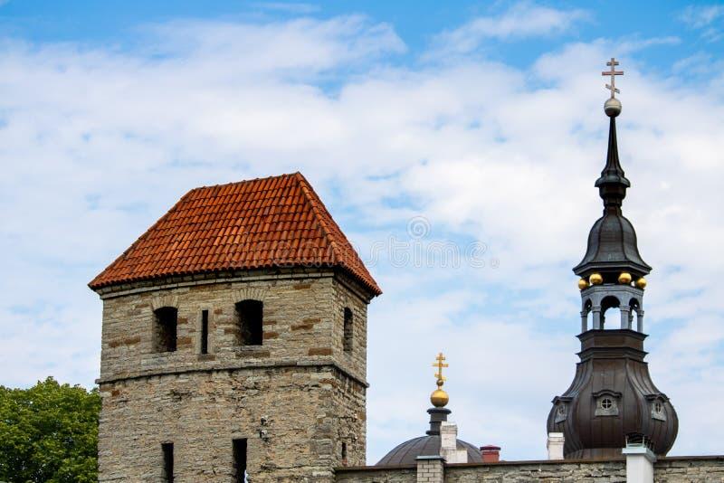 TALLINN, ESTONIA- JUNE 26, 2015: View of St.Mary Church. stock image