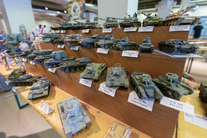 TALLINN Estonia, MAJ, - 26, 2018: Tallinn miniatury modela wystawa obraz stock