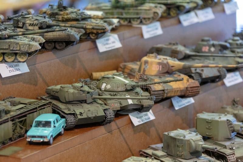 TALLINN Estonia, MAJ, - 26, 2018: Tallinn miniatury modela wystawa obrazy royalty free