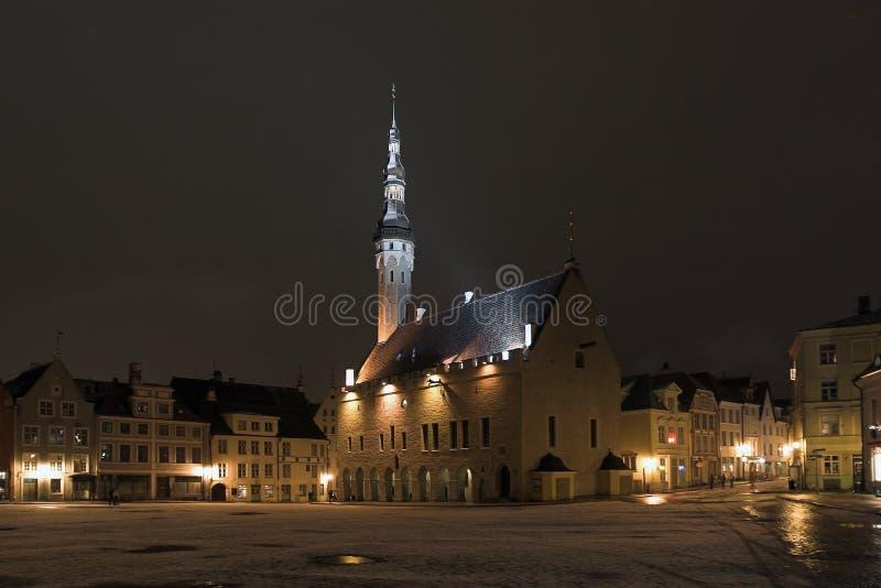 Tallinn. Estonia. Night on Tow stock images