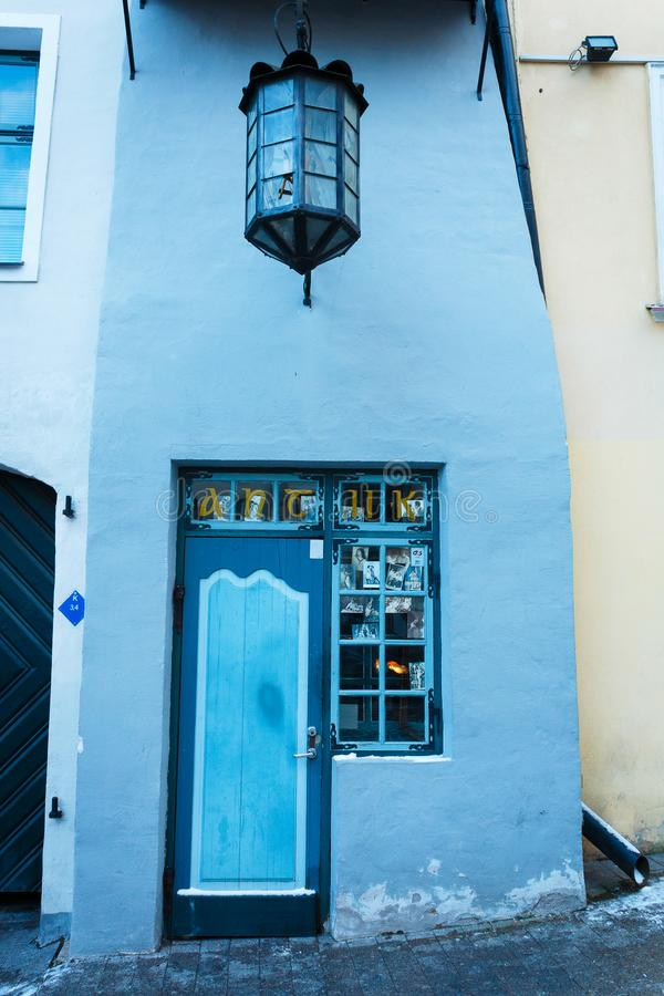 Entrance to the souvenir shop in the Old Town stock photos