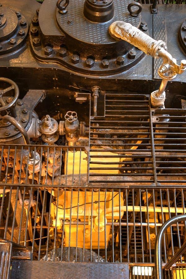 Tallinn, Estonia - November 18, 2018: Icebreaker Suur Toll. Fragment of the engine room. The icebreaker steamer is part. Of the Tallinn Maritime Museum and is royalty free stock photos