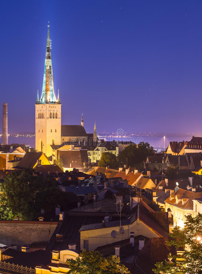 Download Tallinn Estonia Skyline stock photo. Image of landmark - 34367042