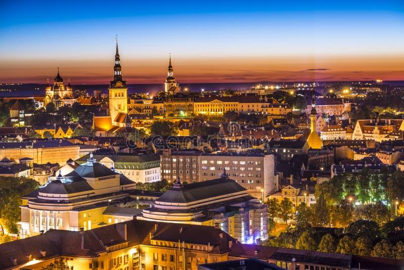 Tallinn Estonia Skyline stock image