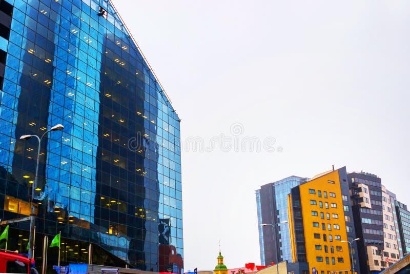 Tallinn. Estonia:.Skyscrapers on Ravala Avenue in the city center stock photo