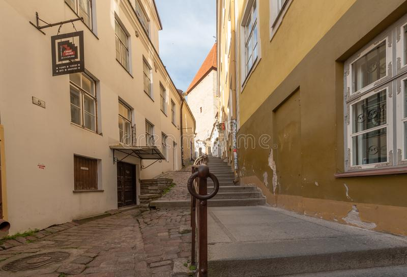 Estonia Tallinn old town early morning view royalty free stock images