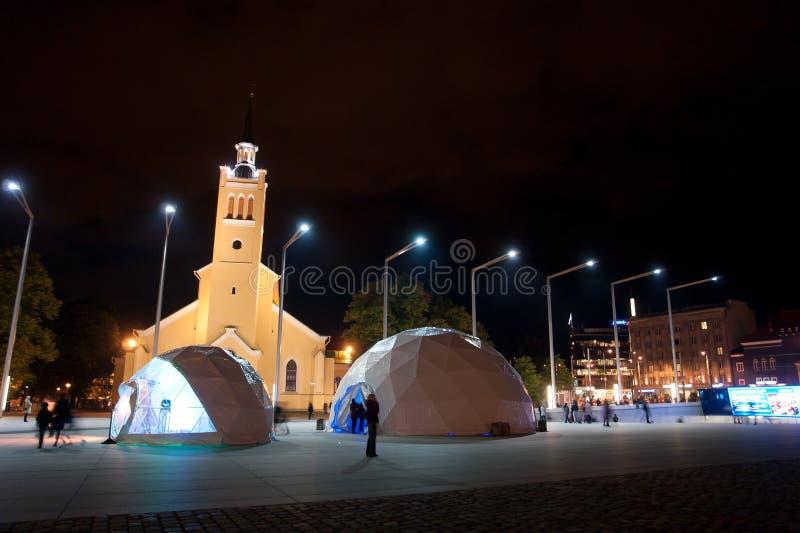 Tallinn Freedom Square royalty free stock image