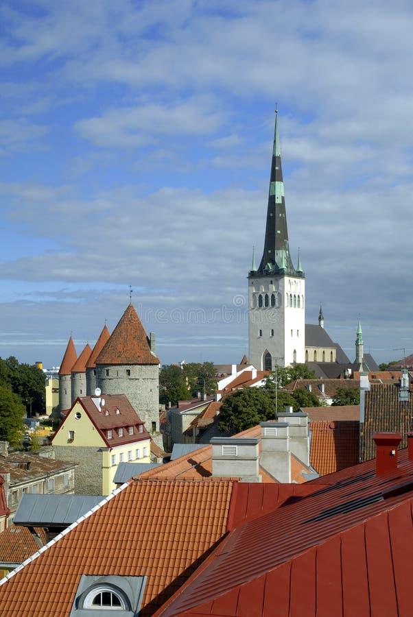 Tallinn - het Kapitaal van Cultuur 2011 royalty-vrije stock afbeelding