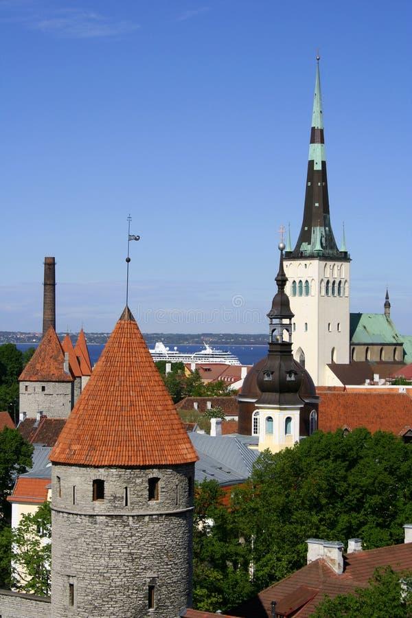 Tallinn - hoofdstad van Estland stock foto's