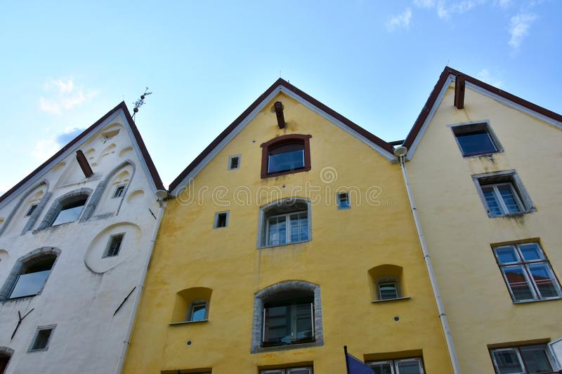 Tallinn houses no.1 called the three sisters royalty free stock images