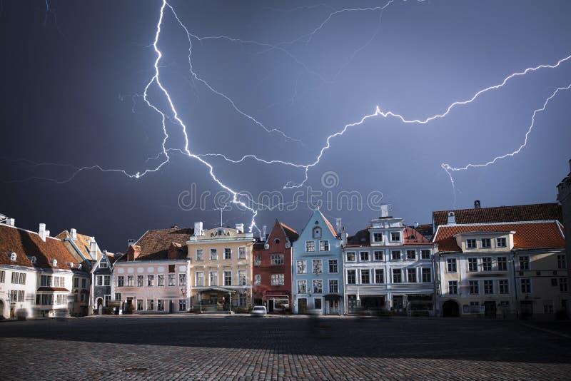 Tallinn - huvudstaden av Estland royaltyfria bilder