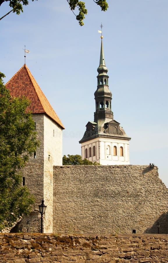 tallinn La iglesia de San Nicolás fotografía de archivo libre de regalías