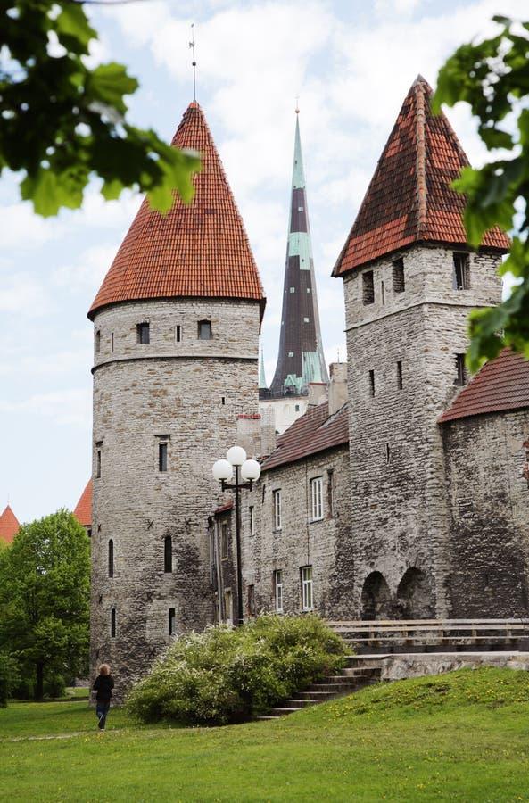 Tallinn miasta ściana góruje fotografia stock